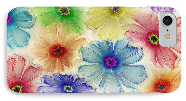 IPhone Case featuring the digital art Flowers For Eternity by Klara Acel