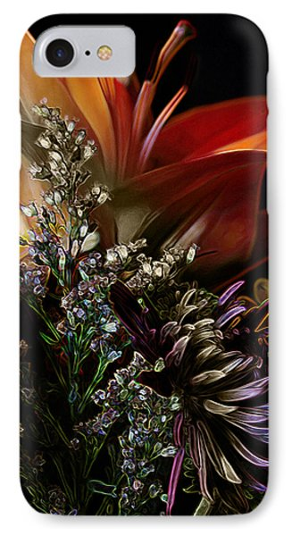 IPhone Case featuring the digital art Flowers 2 by Stuart Turnbull