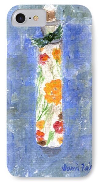 IPhone Case featuring the painting Flowers In A Bottle by Jamie Frier