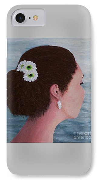 IPhone Case featuring the painting Flowers In Her Hair by Judy Kirouac