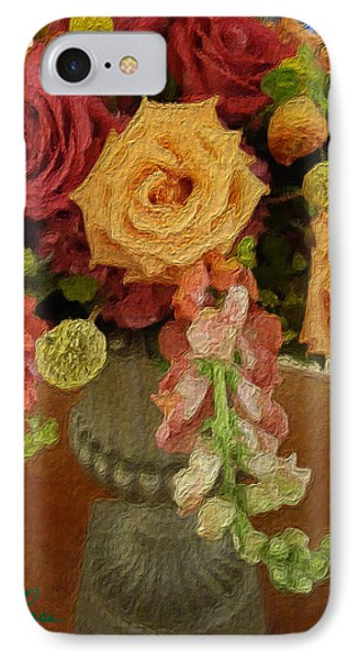 Flowers In Vase IPhone Case by Joan Reese