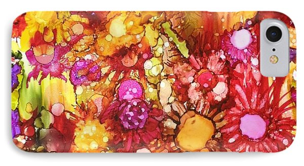 Flowers In Yellow And Pink IPhone Case