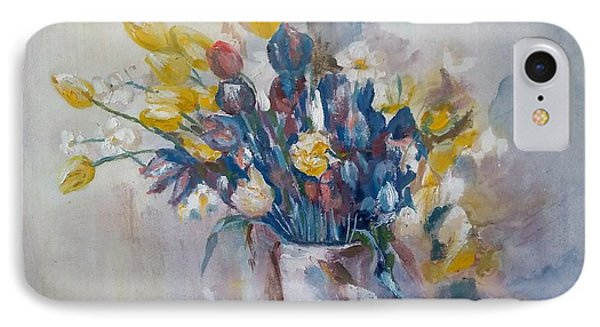 Tulips Flowers IPhone Case by Khalid Saeed