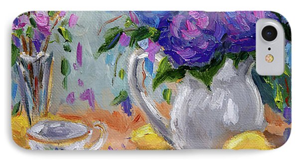 IPhone Case featuring the painting Flowers Lemons by Jennifer Beaudet