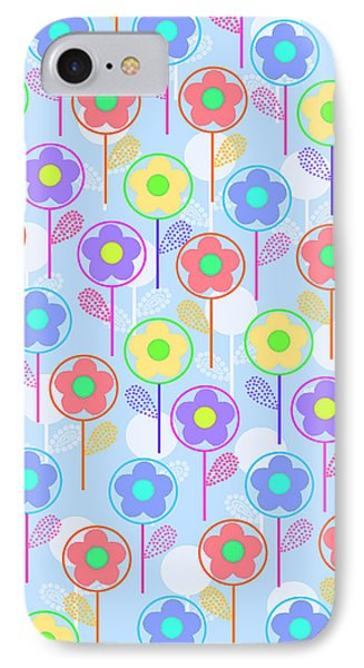 Flowers IPhone Case by Louisa Knight