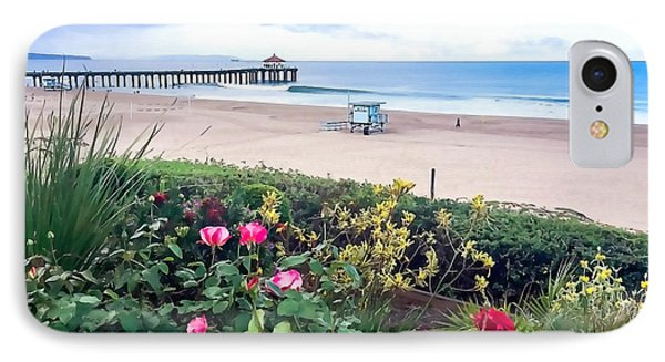 Flowers Of Manhattan Beach IPhone Case by Art Block Collections