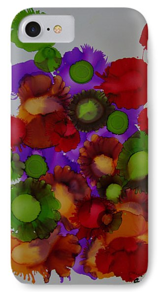 IPhone Case featuring the painting Flowers Of Paradise # 66 by Sima Amid Wewetzer