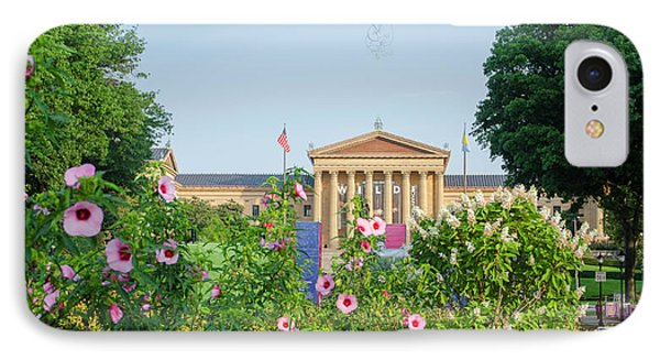 Flowers On The Parkway - Philadelphia Art Museum IPhone Case