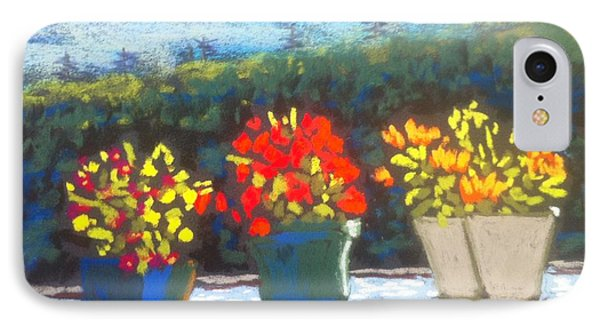 Flowers On The Railing IPhone Case by Rae  Smith