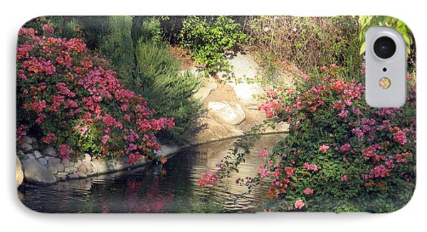 IPhone Case featuring the photograph Flowers Over Pond by Amanda Eberly-Kudamik