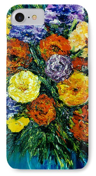 Flowers Painting #191 Phone Case by Donald k Hall