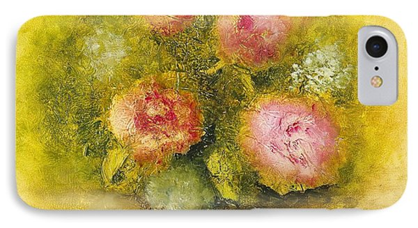 IPhone Case featuring the painting Flowers Pink by Marlene Book