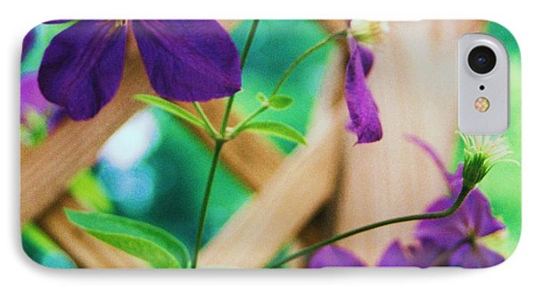 IPhone Case featuring the painting Flowers Purple by Eric  Schiabor