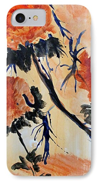 IPhone Case featuring the painting Flowers by Sandy McIntire