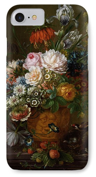 Flowers Still Life IPhone Case by Willem van Leen