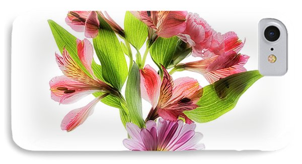 Flowers Transparent  2 IPhone Case by Tom Mc Nemar