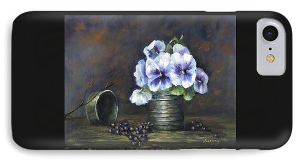 Flowers,pansies Still Life IPhone Case by Luczay
