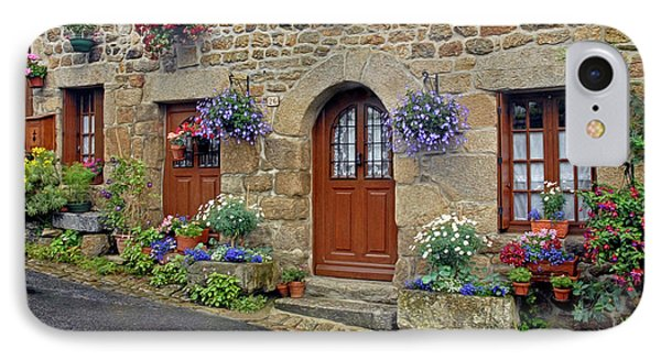 Flowery Doorways In Brittany IPhone Case by Dave Mills