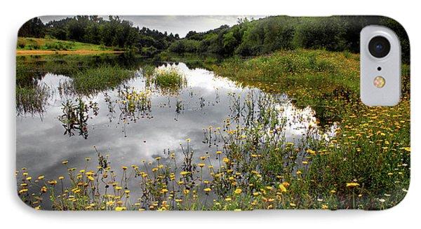 Flowery Lake Phone Case by Carlos Caetano
