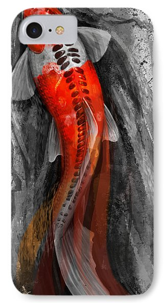Flowing Koi IPhone Case by Steve Goad