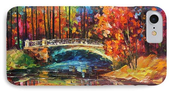 Flowing Under The Bridge  Phone Case by Leonid Afremov