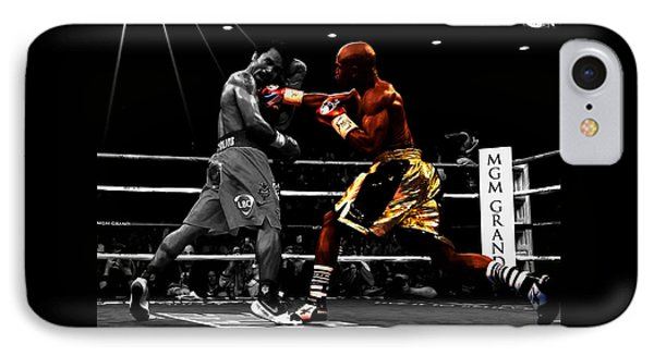 Floyd Mayweather Vs Manny Pacquiao IPhone Case by Brian Reaves