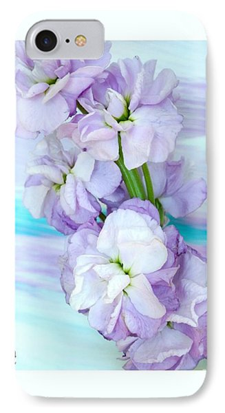 IPhone Case featuring the mixed media Fluffy Flowers by Marsha Heiken