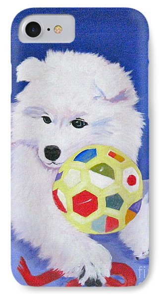 Fluffy's Portrait IPhone Case by Phyllis Kaltenbach