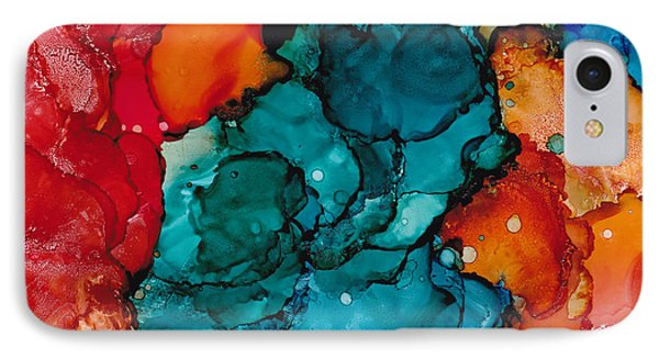 IPhone Case featuring the painting Fluid Depths Alcohol Ink Abstract by Nikki Marie Smith