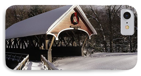 Flume Covered Bridge - Lincoln New Hampshire Usa Phone Case by Erin Paul Donovan