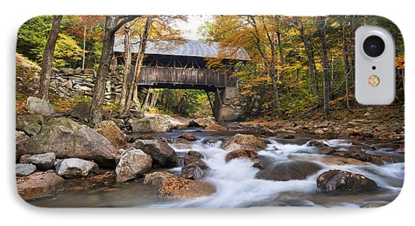 Flume Covered Bridge IPhone Case by Eric Gendron