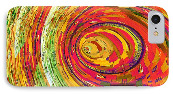 Fluorescent Wormhole Phone Case by Shawna Rowe