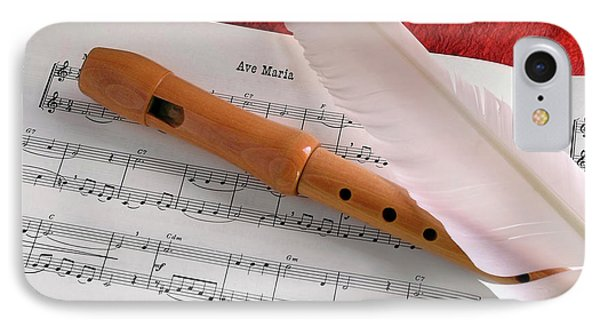 Flute And Feather Phone Case by Carlos Caetano