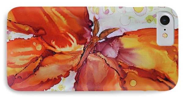 IPhone Case featuring the painting Flutter by Joanne Smoley