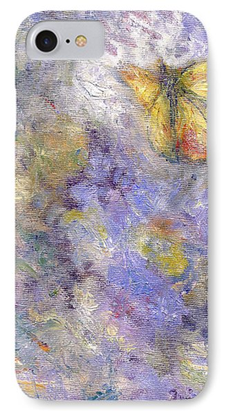 Flutterby - Original Butterfly In Flight Painting IPhone Case by Quin Sweetman