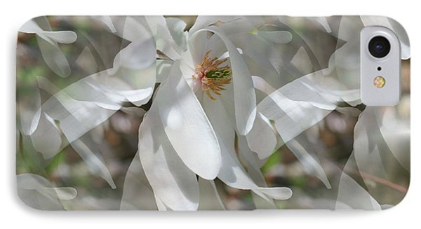 IPhone Case featuring the photograph Fluttering Magnolia Petals by Smilin Eyes  Treasures