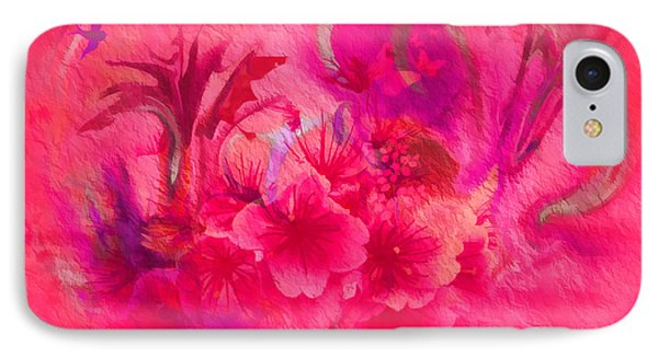 Flower Art Pinky Pink  IPhone Case by Sherri's Of Palm Springs