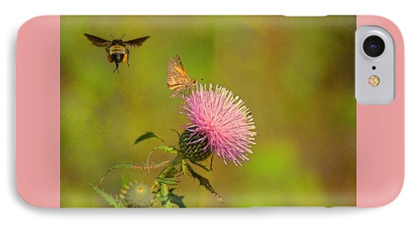 Fly By Bee IPhone Case by Rick Friedle