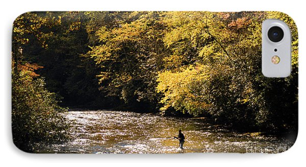IPhone Case featuring the photograph Fly Fisherman On The Tellico - D010008 by Daniel Dempster