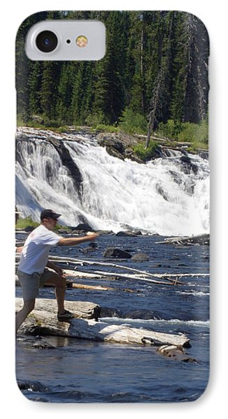 Fly Fishing The Lewis River Phone Case by Marty Koch