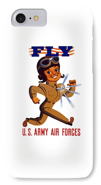 Fly - Us Army Air Forces Phone Case by War Is Hell Store