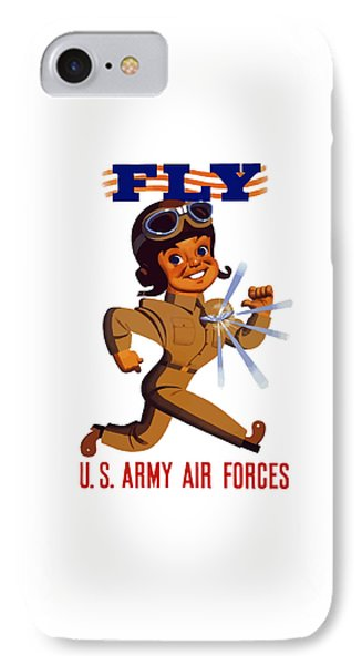 Fly - Us Army Air Forces IPhone Case by War Is Hell Store