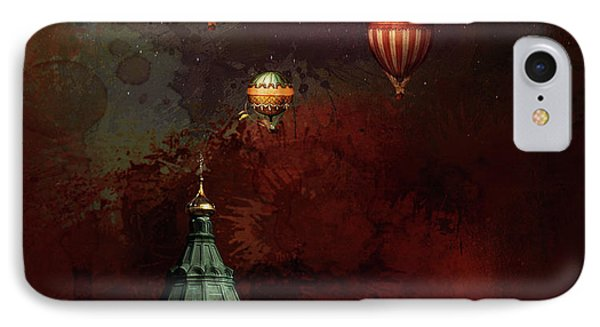 IPhone Case featuring the digital art Flying Balloons Over Stockholm by Jeff Burgess