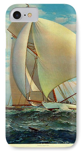 IPhone Case featuring the photograph Flying Defender 1895 by Padre Art