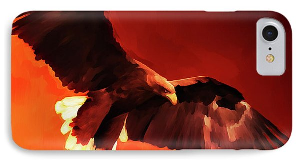 Flying Eagle  IPhone Case by Gull G