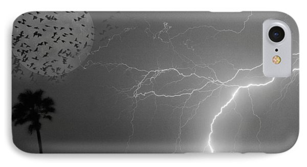 Flying From The Storm Bw Phone Case by James BO  Insogna
