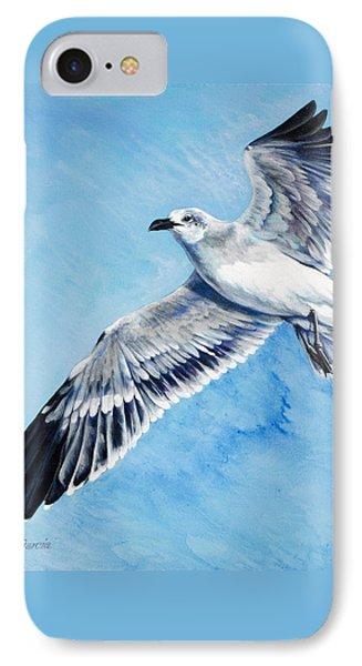 Flying Gull IPhone Case by Joan Garcia