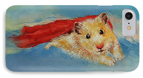 Hamster Superhero Phone Case by Michael Creese