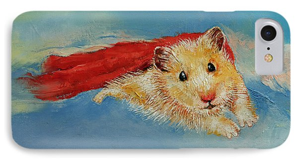 Hamster Superhero IPhone Case by Michael Creese