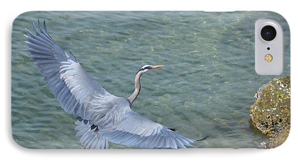 Flying Heron IPhone Case by Jerry Cahill